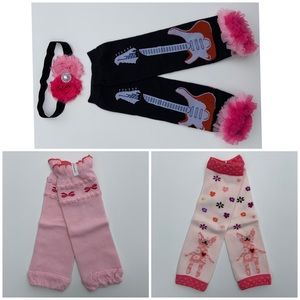 3 Pairs Baby/Toddler Leg Warmers